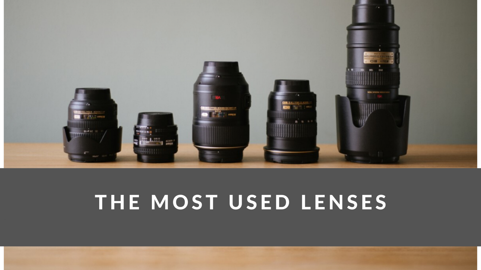 The Most Used Lenses