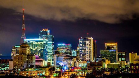 Downtown Phoenix City Lights Photography